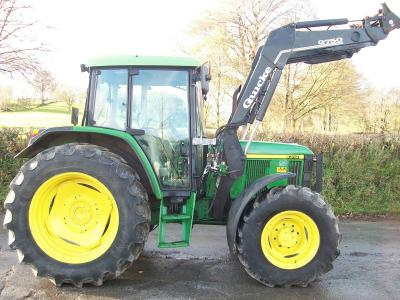 JOHN DEERE 6310 with Quicke Q750 loader