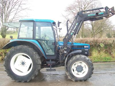 NEW HOLLAND 6640 SL Dual Power TURBO with Trima Power Loader